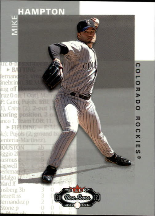 2002 Fleer Box Score #60 Mike Hampton
