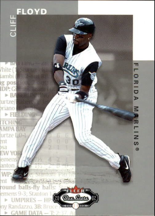 2002 Fleer Box Score #66 Cliff Floyd