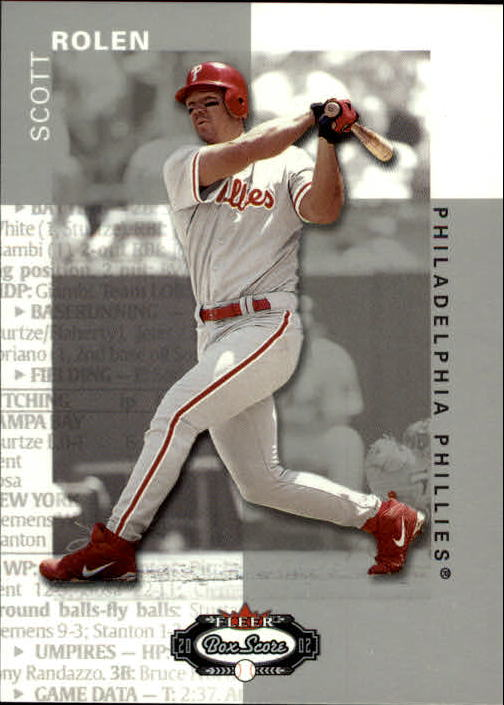 2002 Fleer Box Score #68 Scott Rolen