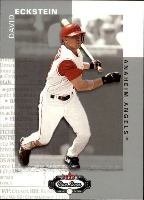 2002 Fleer Box Score #74 David Eckstein