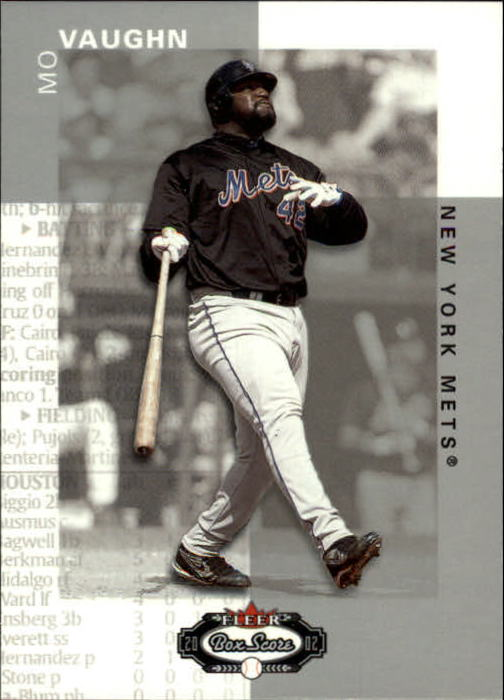 2002 Fleer Box Score #77 Mo Vaughn