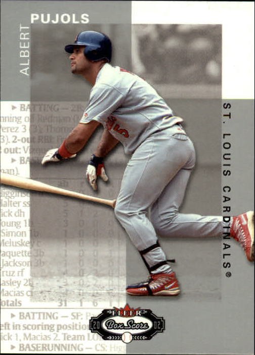 2002 Fleer Box Score #79 Albert Pujols