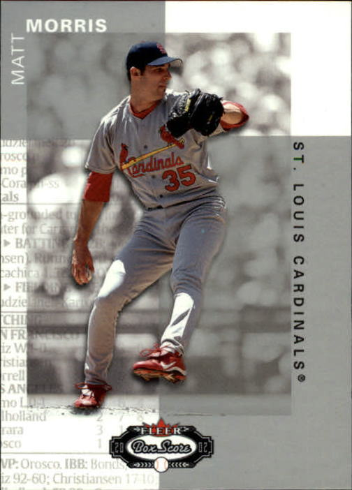 2002 Fleer Box Score #81 Matt Morris