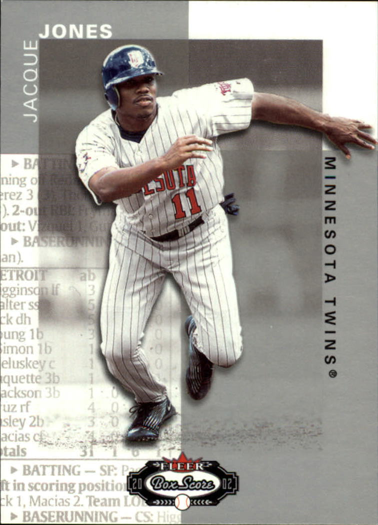 2002 Fleer Box Score #85 Jacque Jones