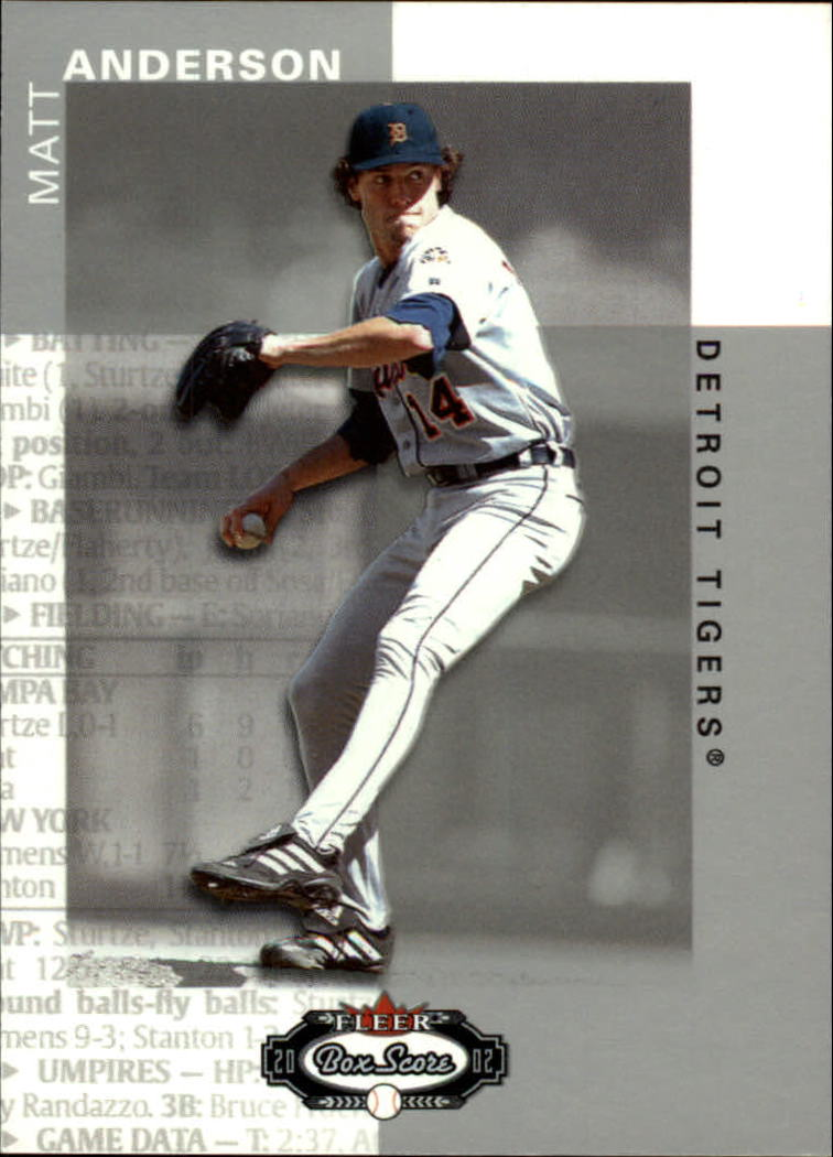 2002 Fleer Box Score #86 Matt Anderson