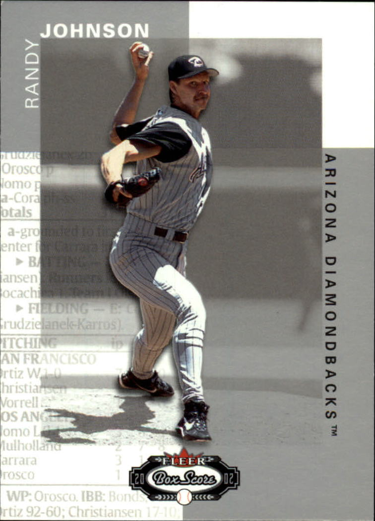 2002 Fleer Box Score #92 Randy Johnson