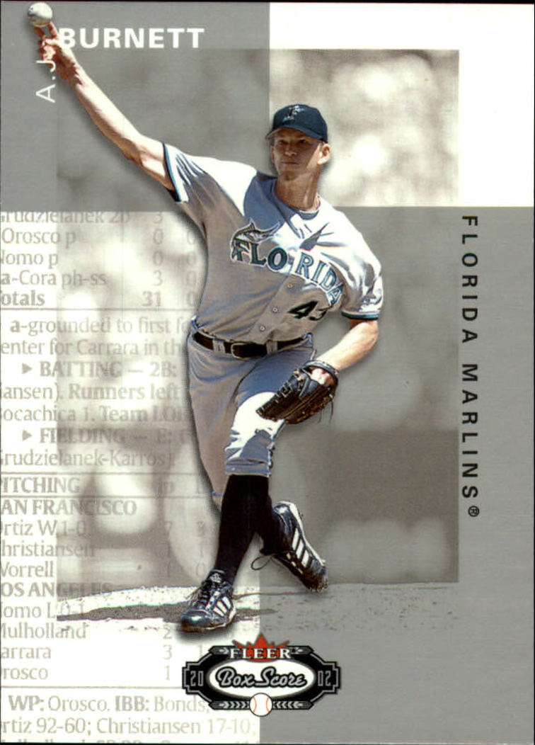 2002 Fleer Box Score #98 A.J. Burnett