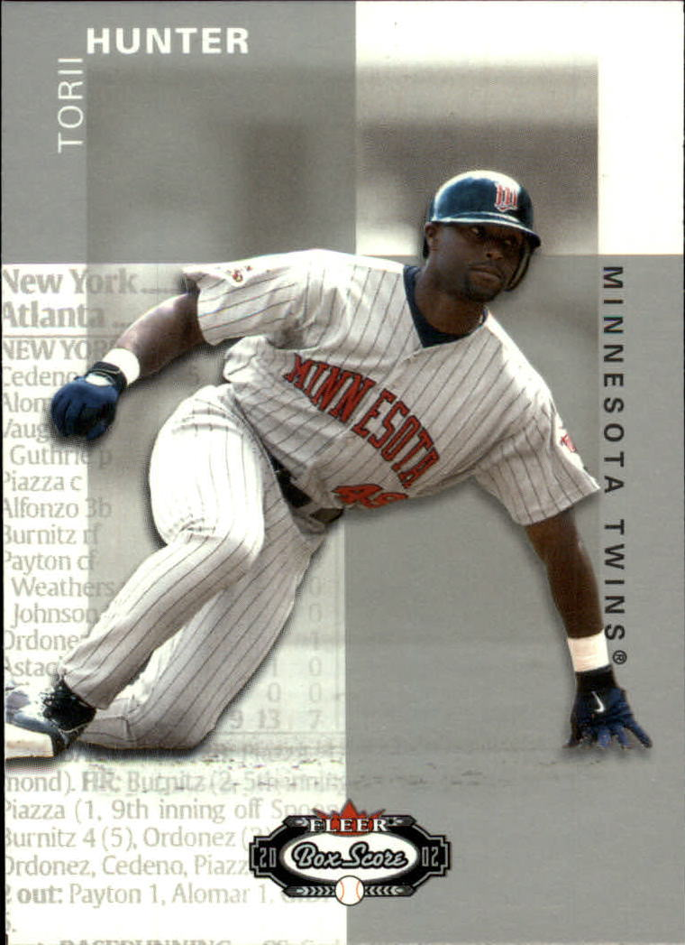 2002 Fleer Box Score #99 Torii Hunter