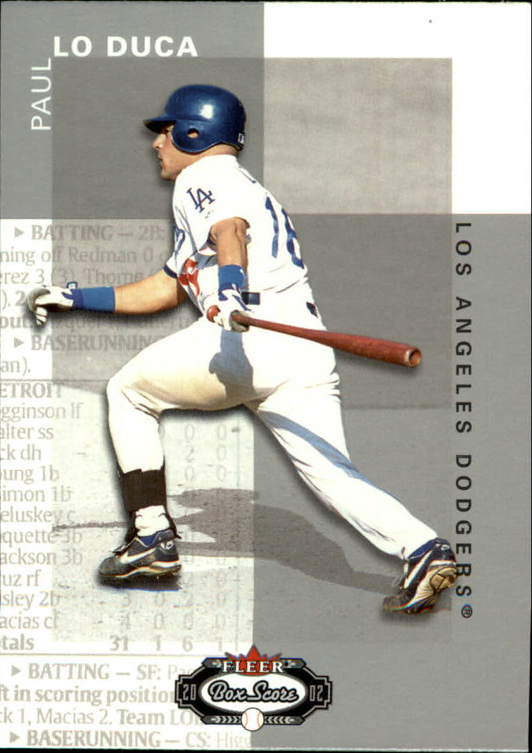 2002 Fleer Box Score #103 Paul LoDuca