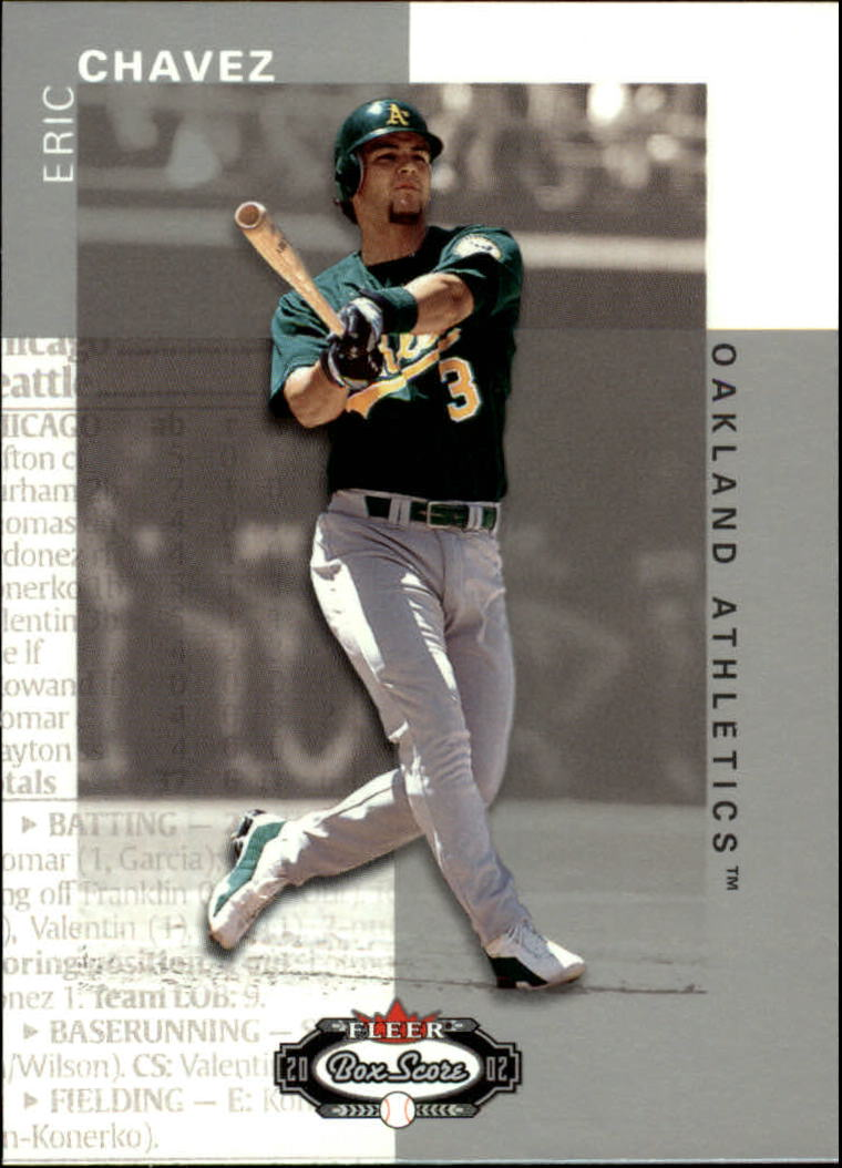 2002 Fleer Box Score #104 Eric Chavez
