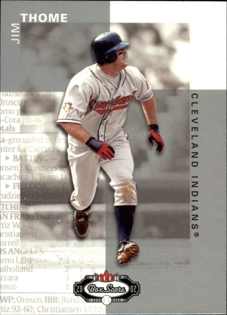 2002 Fleer Box Score #111 Jim Thome