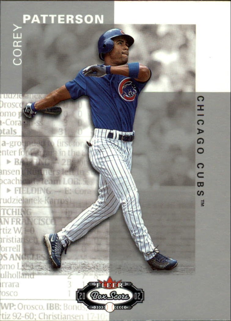 2002 Fleer Box Score #117 Corey Patterson