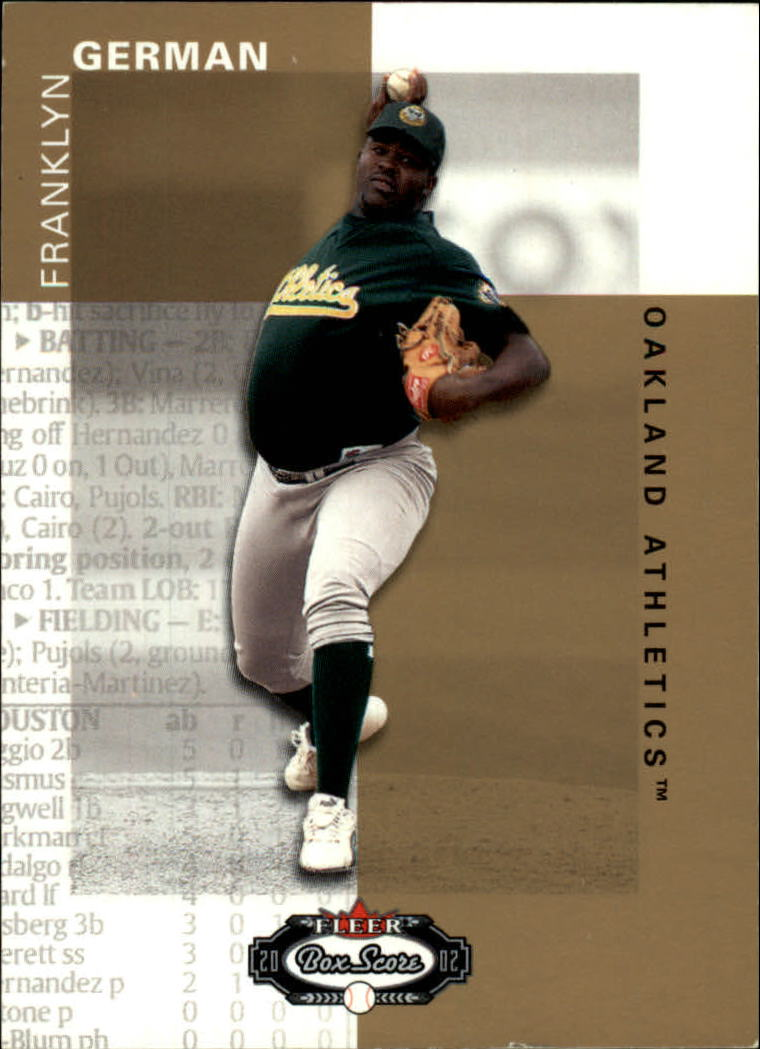 2002 Fleer Box Score #126 Franklyn German RP RC