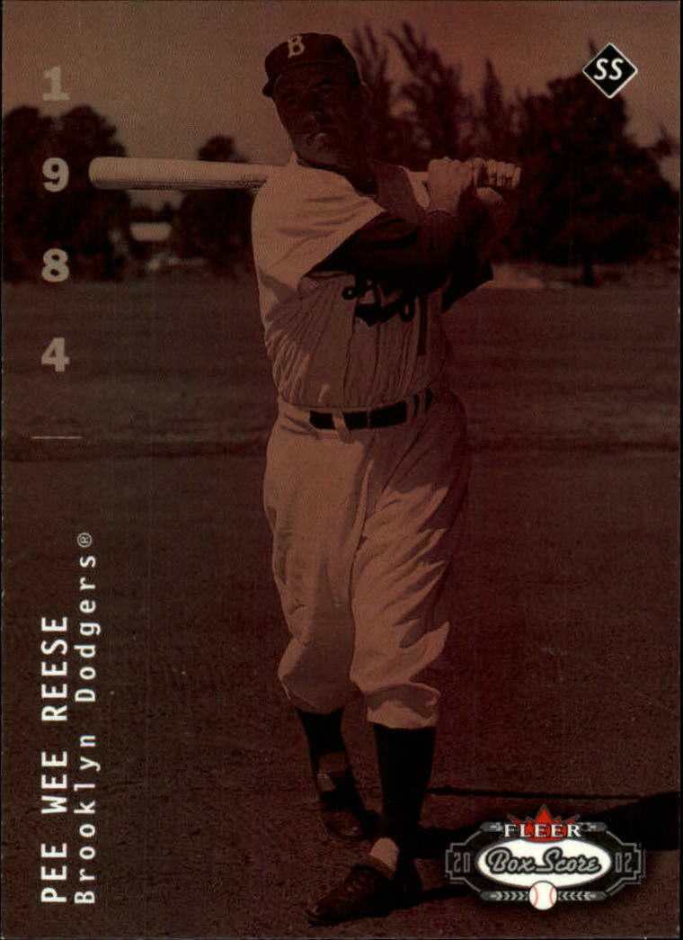 2002 Fleer Box Score #285 Pee Wee Reese CT