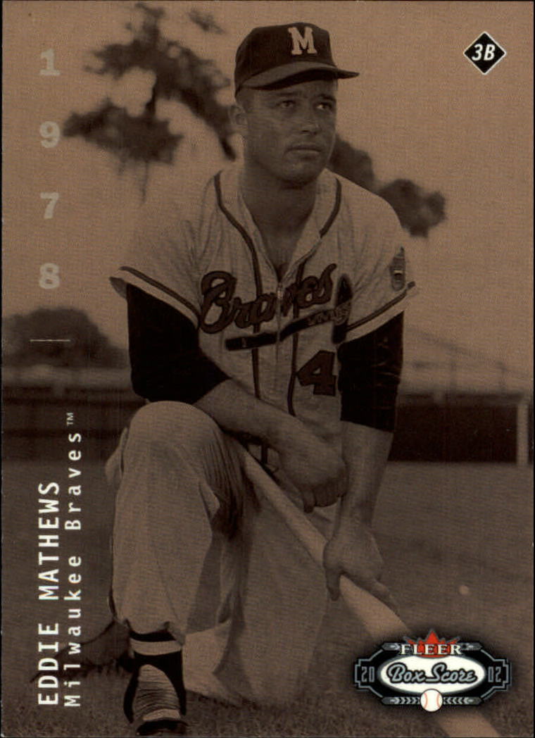 2002 Fleer Box Score #286 Eddie Mathews CT