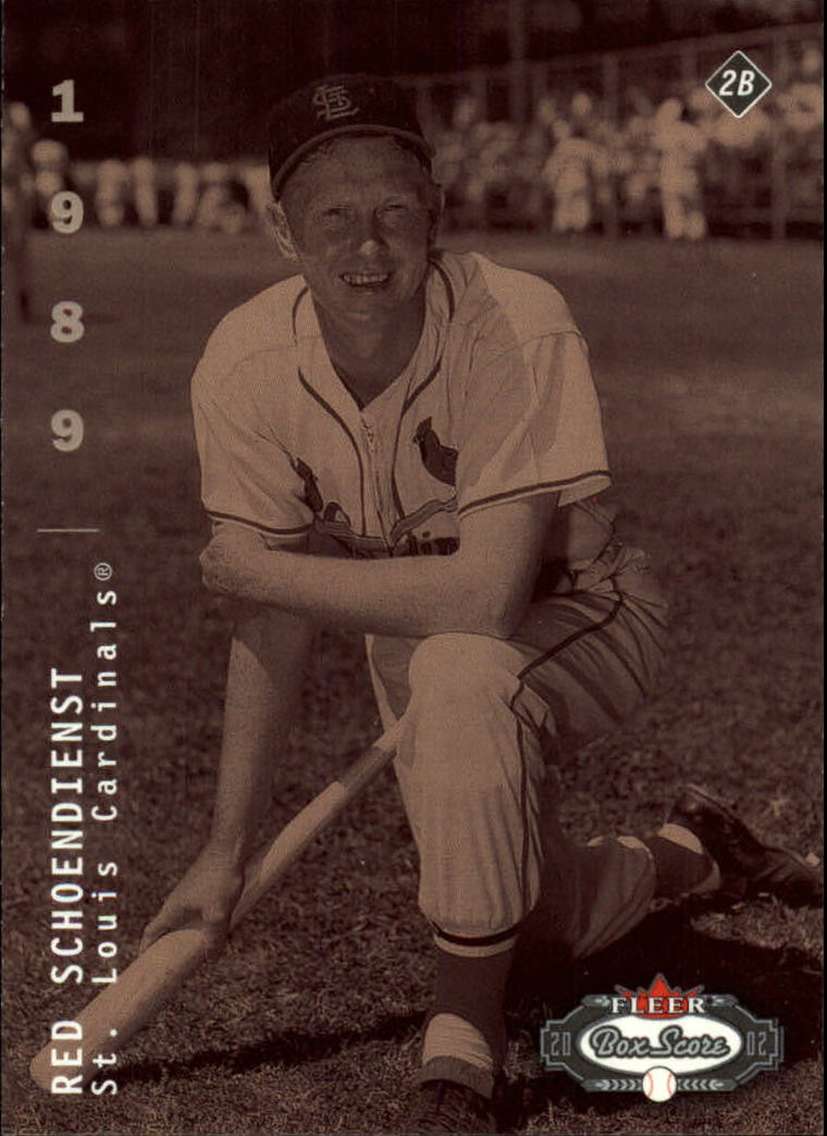 2002 Fleer Box Score #302 Red Schoendienst CT