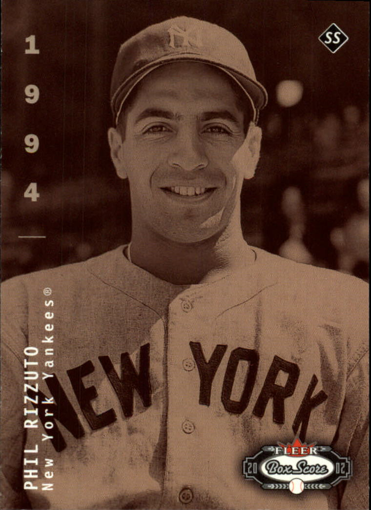 2002 Fleer Box Score #308 Phil Rizzuto CT