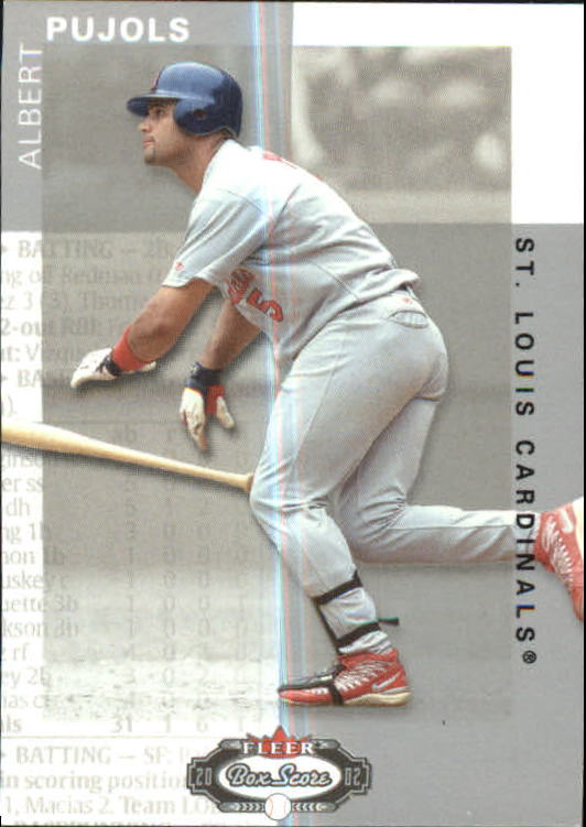 2002 Fleer Box Score Classic Miniatures #79 Albert Pujols