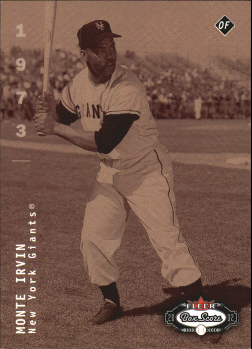 2002 Fleer Box Score First Edition #289 Monte Irvin CT