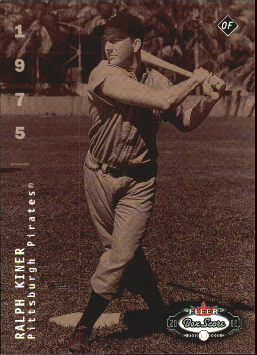 2002 Fleer Box Score First Edition #297 Ralph Kiner CT