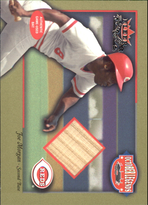 2002 Fleer Fall Classics October Legends Game Used #JM Joe Morgan Bat