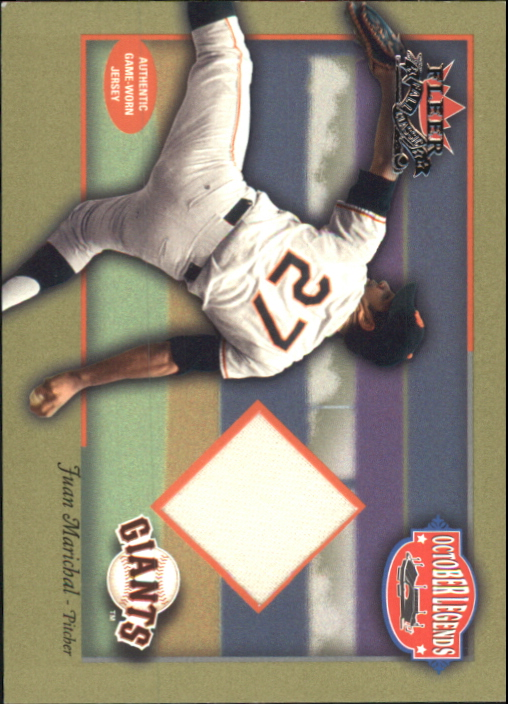 2002 Fleer Fall Classics October Legends Game Used #JMA Juan Marichal Jsy