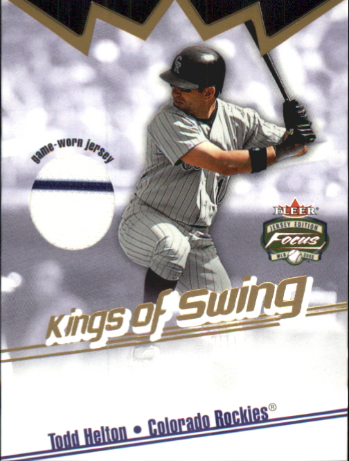 2002 Fleer Focus JE Kings of Swing Game Used #2 Todd Helton Jsy