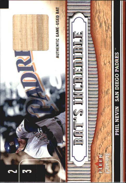 2002 Fleer Genuine Bats Incredible Game Used #11 Phil Nevin