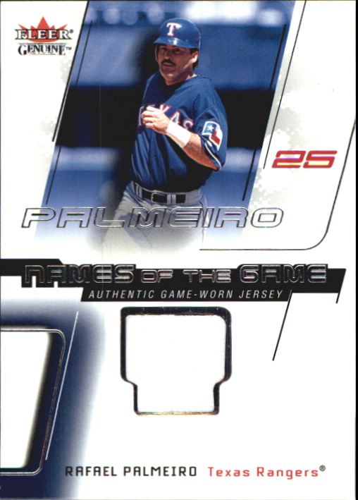 2002 Fleer Genuine Names of the Game Memorabilia #14 Rafael Palmeiro