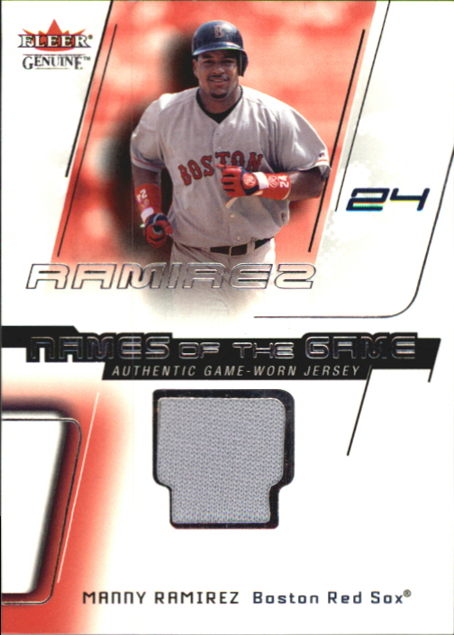 2002 Fleer Genuine Names of the Game Memorabilia #16 Manny Ramirez