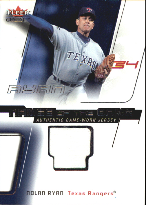 2002 Fleer Genuine Names of the Game Memorabilia #18 Nolan Ryan