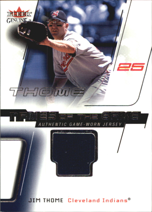2002 Fleer Genuine Names of the Game Memorabilia #19 Jim Thome
