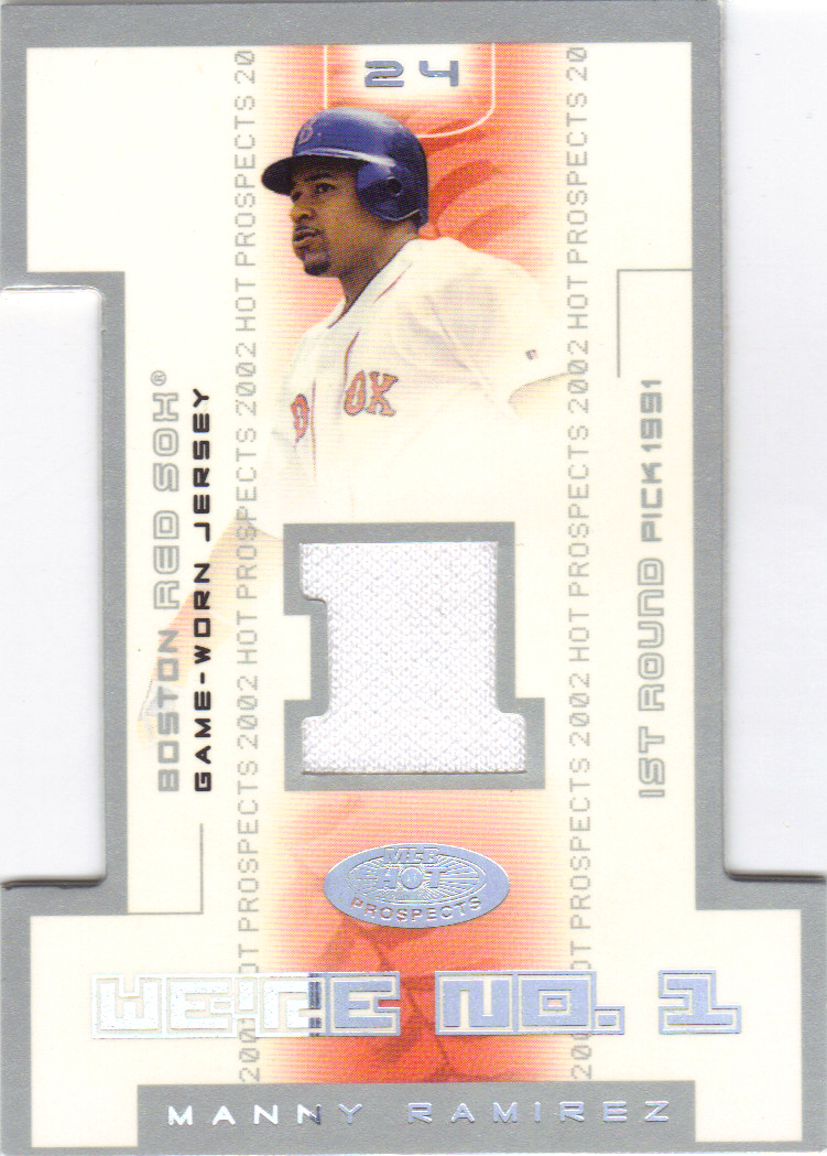 2002 Hot Prospects We're Number One Memorabilia #MR Manny Ramirez Jsy