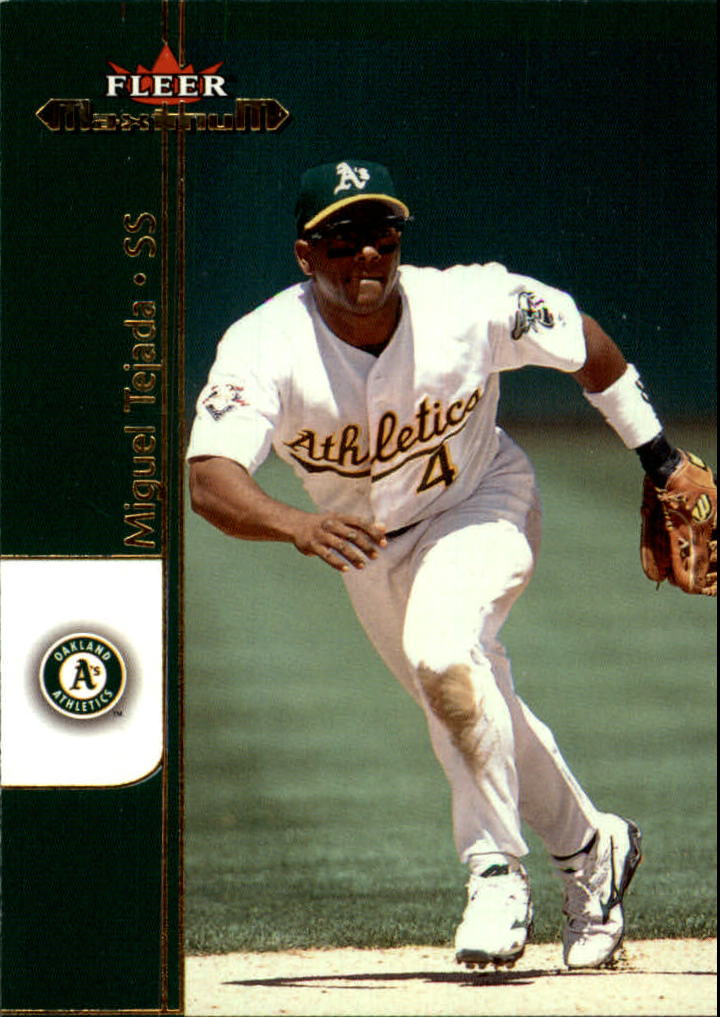 2002 Fleer Maximum #30 Miguel Tejada