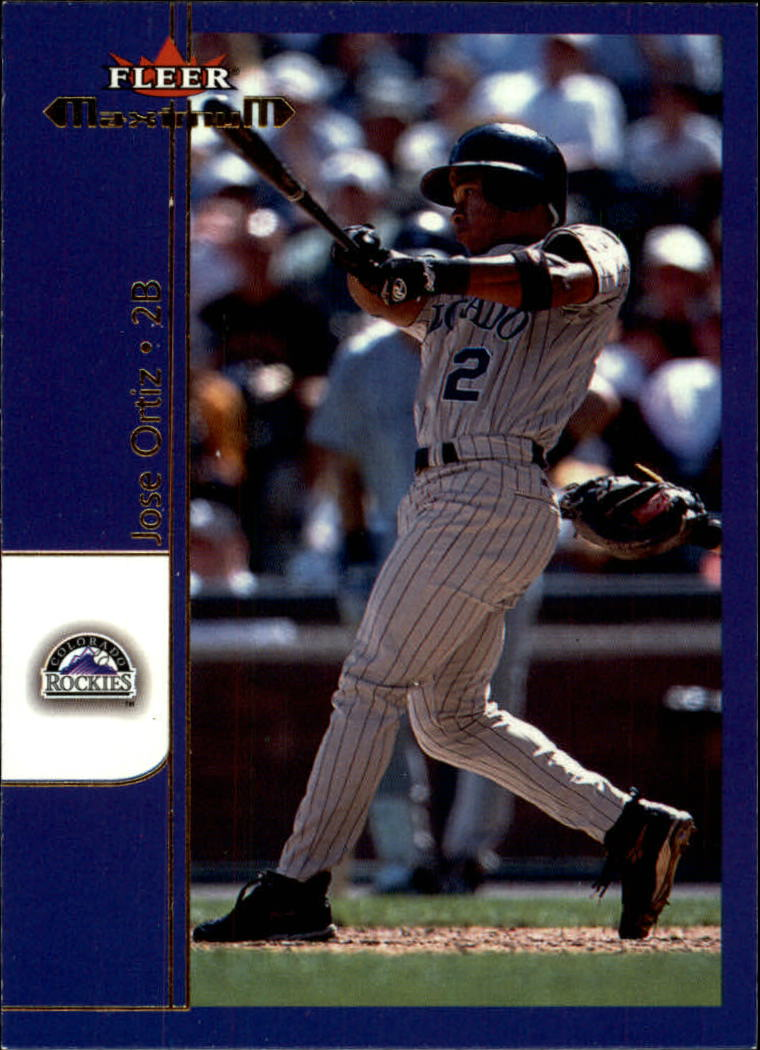 2002 Fleer Maximum #48 Jose Ortiz