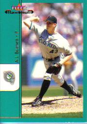2002 Fleer Maximum #100 A.J. Burnett