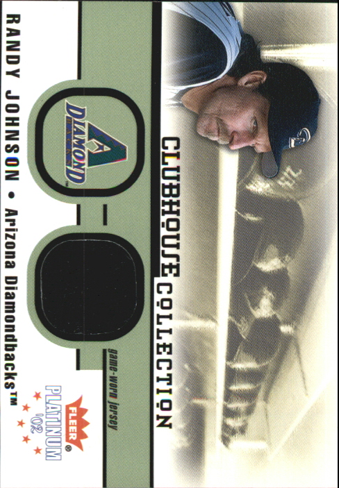 2002 Fleer Platinum Clubhouse Memorabilia #18 Randy Johnson Jsy/1000