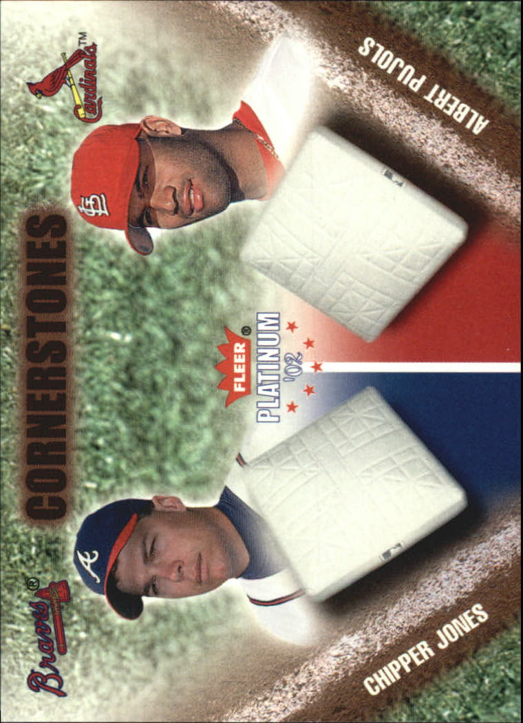 2002 Fleer Platinum Cornerstones #33 C.Jones/A.Pujols
