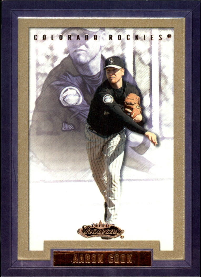 2002 Fleer Showcase #151 Aaron Cook RS RC
