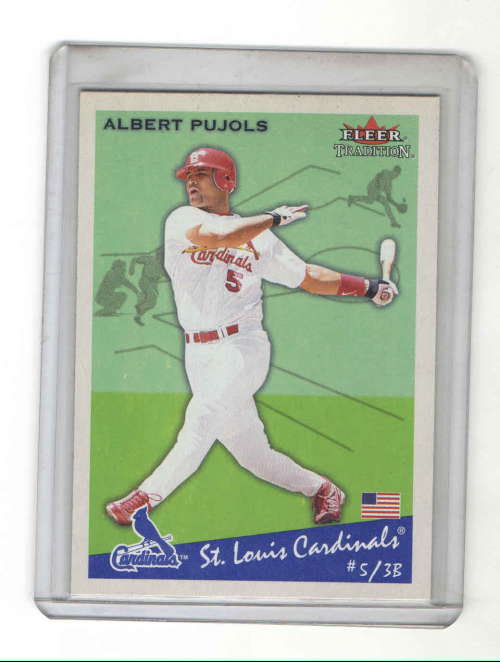 2002 Fleer Tradition #24 Albert Pujols SP