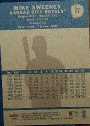 2002 Fleer Tradition #27 Mike Sweeney SP back image