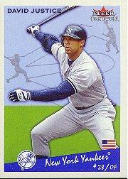 2002 Fleer Tradition #110 David Justice