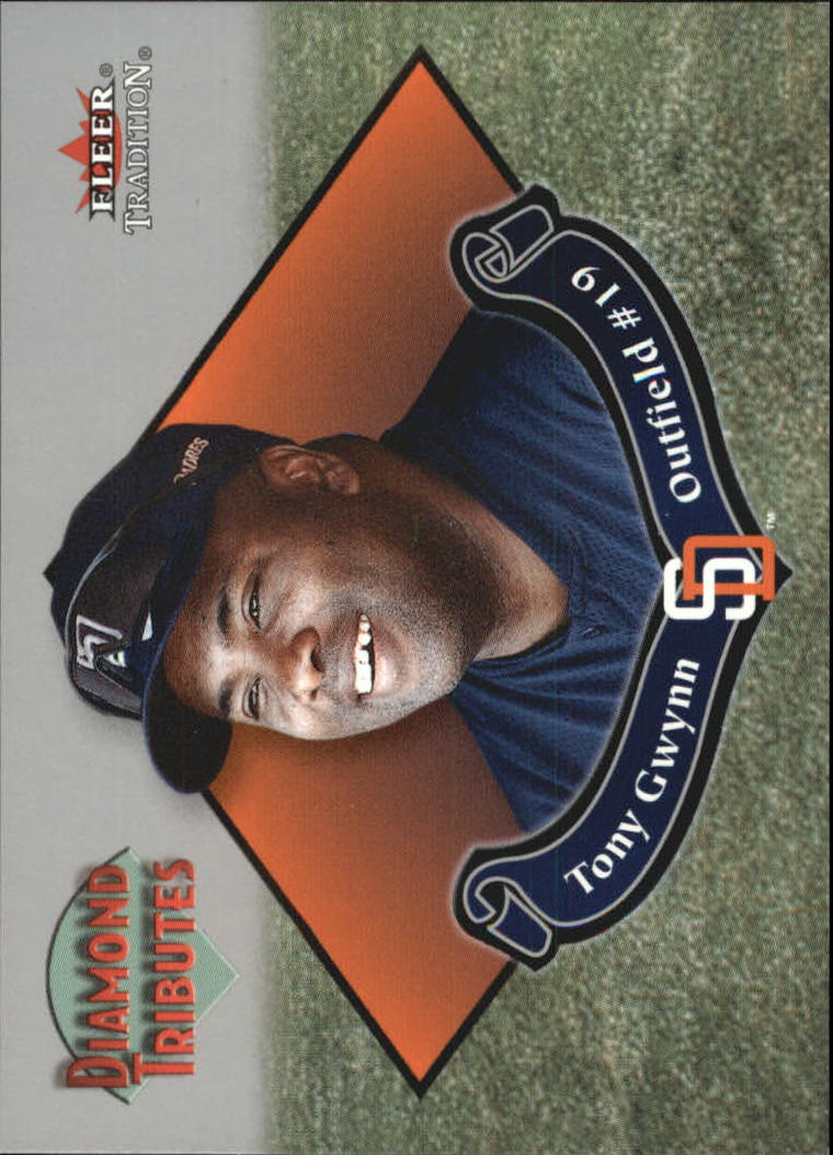 2002 Fleer Tradition Diamond Tributes #2 Tony Gwynn