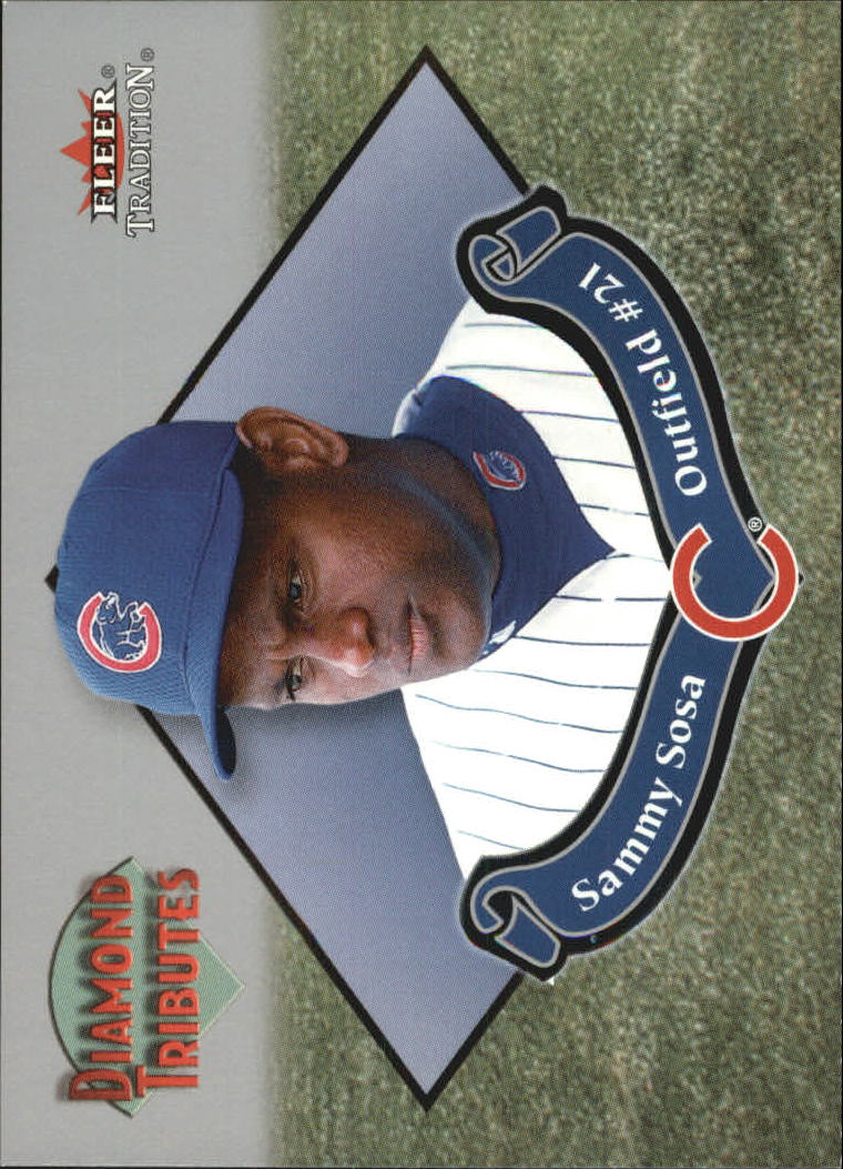 2002 Fleer Tradition Diamond Tributes #6 Sammy Sosa
