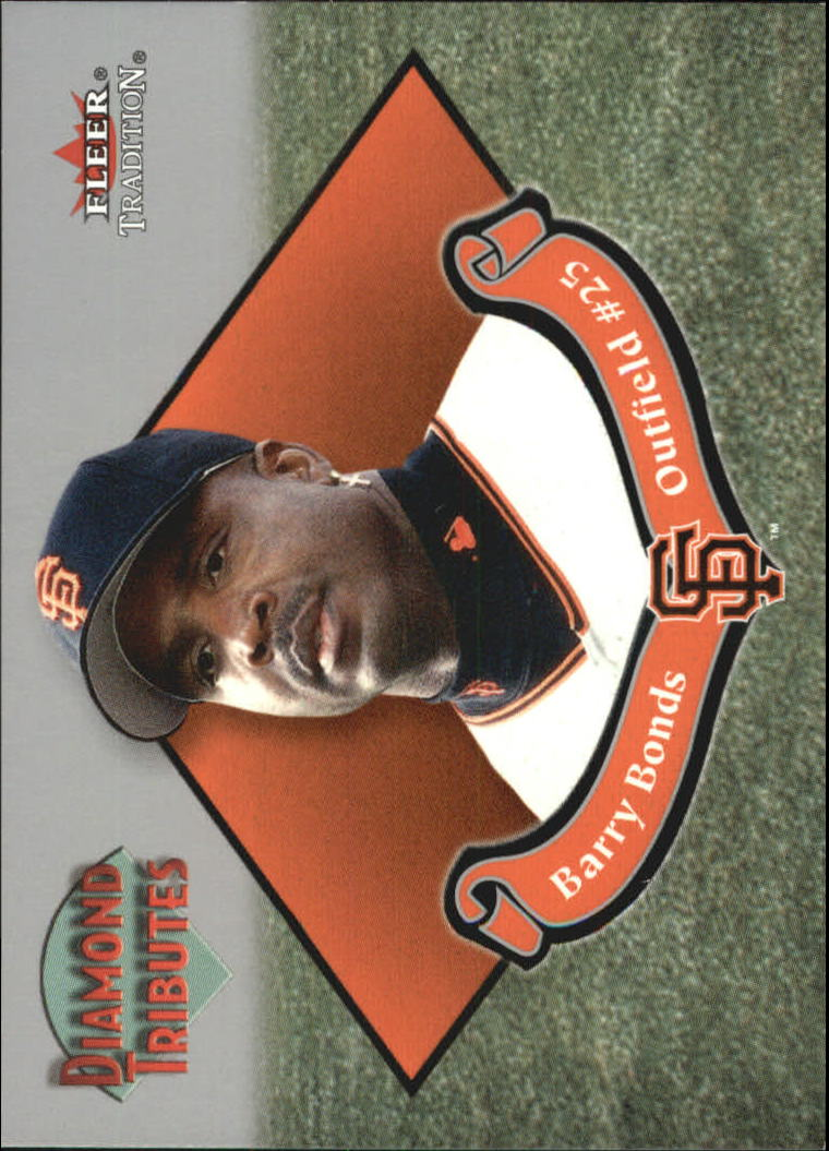 2002 Fleer Tradition Diamond Tributes #7 Barry Bonds