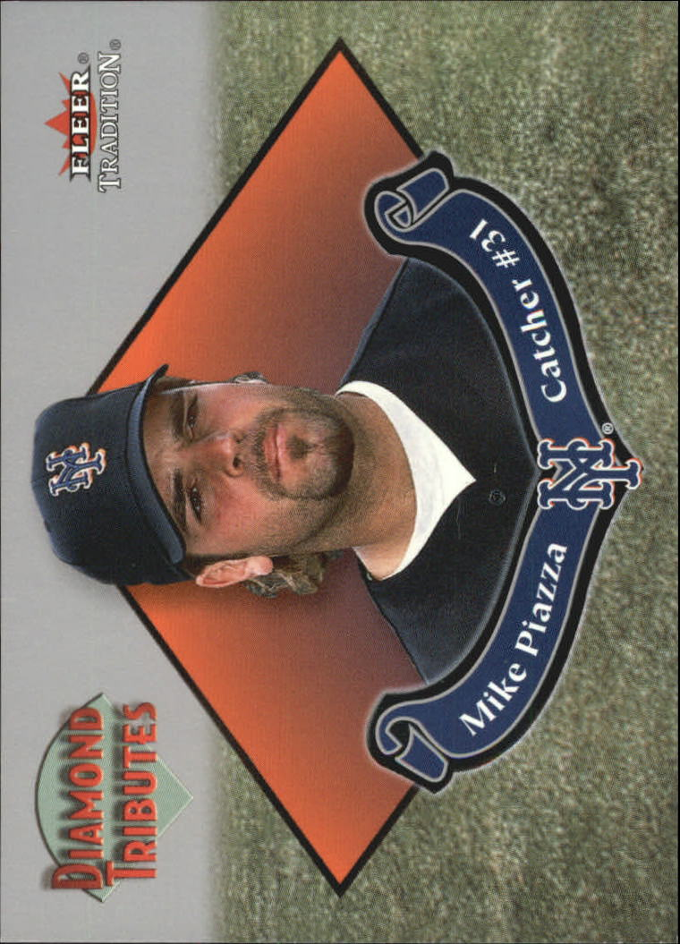 2002 Fleer Tradition Diamond Tributes #9 Mike Piazza