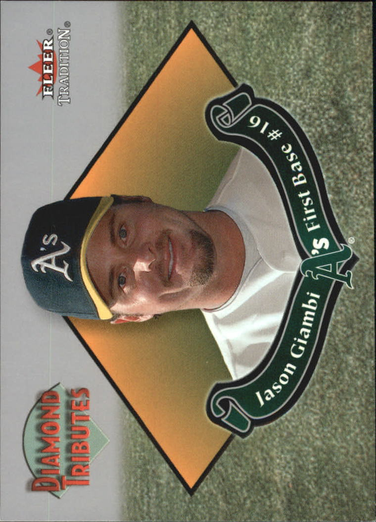 2002 Fleer Tradition Diamond Tributes #15 Jason Giambi