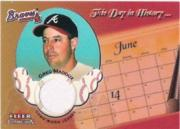2002 Fleer Tradition This Day in History Game Used #15 Greg Maddux Jsy/100