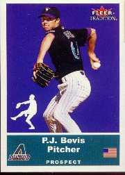 2002 Fleer Tradition Update #U1 P.J. Bevis SP RC
