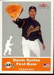 2002 Fleer Tradition Update #U7 Deivis Santos SP